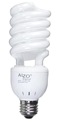 Alzo Joyous Light 27W Full Spectrum CFL Compact Fluorescent Light Bulb - 5500K Daylight Balanced - 120V