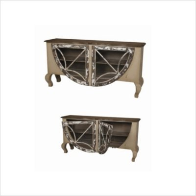 Buy low price guildmaster italian sideboard in distressed for Sideboard taupe