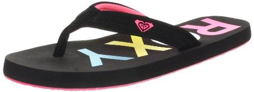Roxy Women's Low Tide Sandal,Black/Pink,8 B US