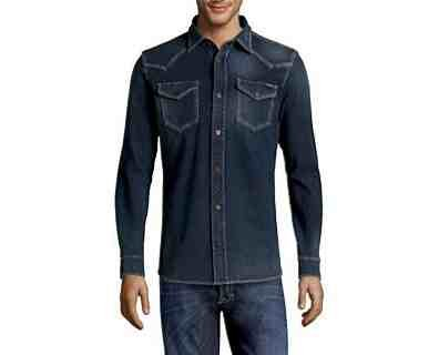 Diesel -  Camicia Casual  - Uomo BLEU DENIM Large
