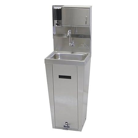 Stainless Steel Pedestal Mounted Base Splash Mounted Faucet Handsink