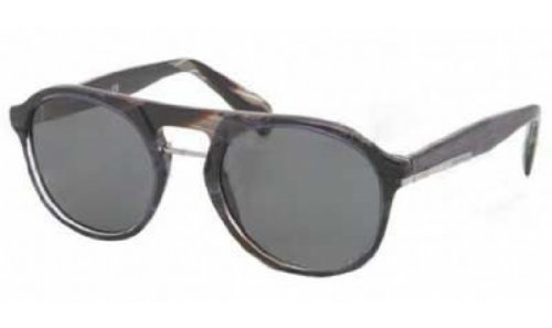 prada Prada PR09PS Sunglasses-EAR/1A1 Striped Blue Horn (Gray Lens)-51mm