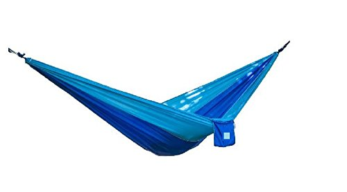 Parachute Hammock for camping, relaxing, or just hanging around (Blue)