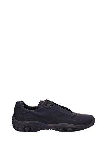 Sneakers Prada Uomo Pelle Nero e Rosso 4E2965NERO Nero 44EU