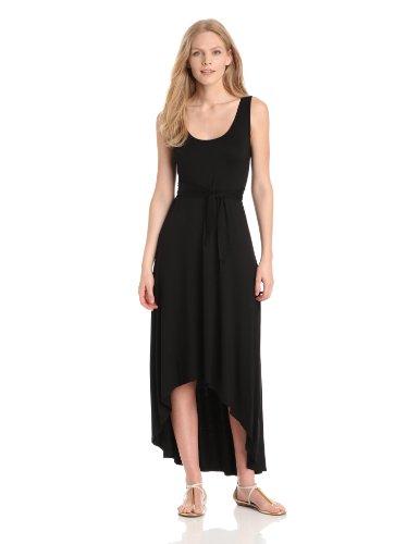 Three Dots Red Women's Tie Back High Low Dress, Black, X-Large