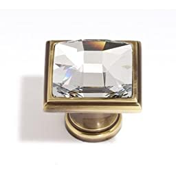 Alno C212-PN Traditional Crystal Knobs, 1-1/4\