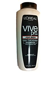 L'Oreal Paris Vive Pro For Men Daily Thickening Shampoo, 13.0 Fluid Ounce