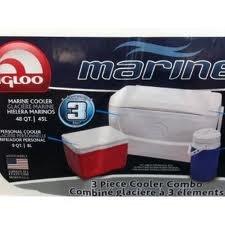IGLOO MARINE COOLBOX 48QT 3PCE SET
