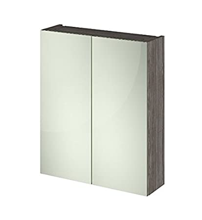 Attractive Grey Mirror Cabinet - Assembled Already - Soft Close Doors - Made From High Quality Materials - Solid Construction