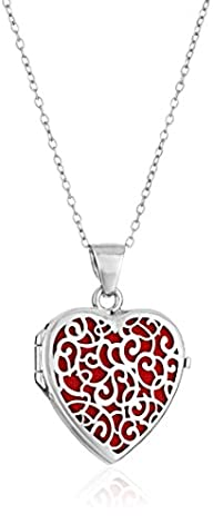 Sterling Silver Italian Heart with Fr…