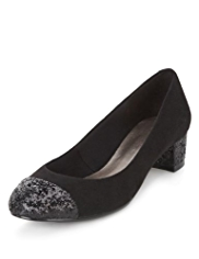 M&S Collection Glitter Toe Cap Court Shoes