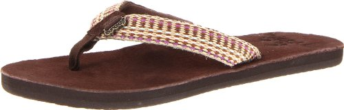 Reef Womens Reef Gypsylove Thong Sandals R1511BRP Brown/Pink 4 UK, 36 EU