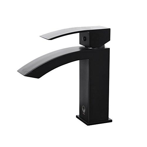 VIGO Satro Single Lever Basin Bathroom Faucet, Matte Black (Faucet Bathroom Black compare prices)