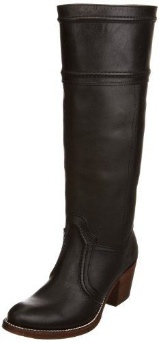Frye Women's Jane 14L Stitch Black Cowboy Boot Rubber 77233 4 UK, 6 US