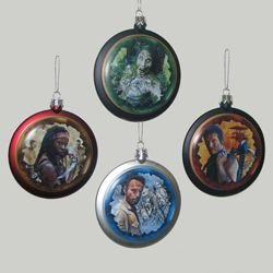 WALKING DEAD DISC CHRISTMAS ORNAMENT - SET OF 4