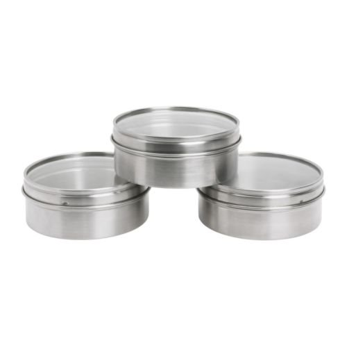 Ikea 801.029.19 Container, Stainless Steel, 3-Pack