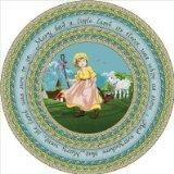 "Joy Carpets Kid Essentials Infants & Toddlers Oval Mary's Lamb Rug, Multicolored, 3'10"" x 5'4"""