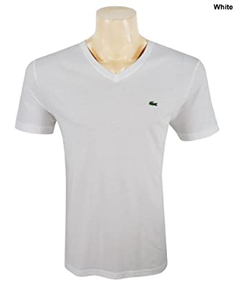 Lacoste Men's Short Sleeve Classic T Shirt White, Size Small -TH6604