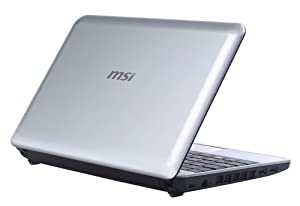MSI Wind U110-031US 10.1-Inch Silver Netbook - Over 14 Hours of Battery Life