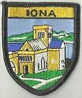IONA SCOTLAND CREST FLAG WORLD EMBROIDERED PATCH BADGE