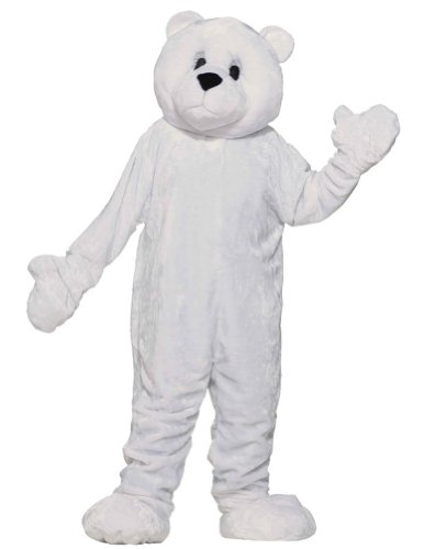 Polar Bear Mascot Adult Costume Adult Mens Costume