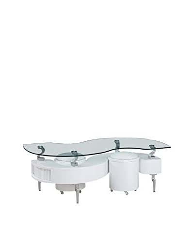 Luxury Home Coffee Table, White