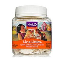 Halo Liv-a-Littles Natural Treats for Dogs and Cats, Freeze-Dried Chicken Breast Protein from Halo, Purely for Pets