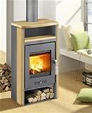 Haas+Sohn Kaminofen Vitorre 275.15 anthrazit/teak Sandstein 6 kW Maße : 102