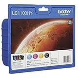 Brother LC1100HYVALBP - Print cartridge - high capacity - 1 x black, yellow, cyan, magenta - blister