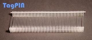 Kunststofffäden tagPin fils de reliure standard (10000 mm)-transparent-lot de 25