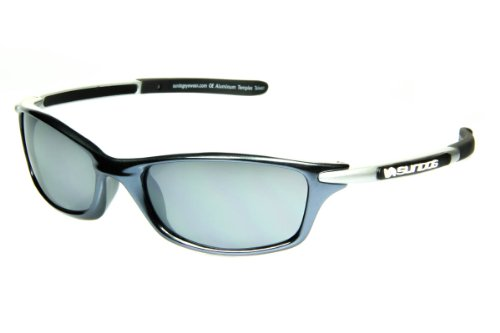 Sundog Amped - Ladies Sport Sunglasses with Gunmetal TR90 Frame and Aluminium Arms, Distortion Free Polycarbonate Smoke Lens for 100% UV Protection, Hydrophilic Temple Tips - sunglasses designed for sport - FREE Microfibre Polishing Pouch