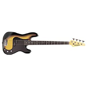 Amazon.com: Silvertone SSLB11 Revolver 4 String Bass, Sunburst