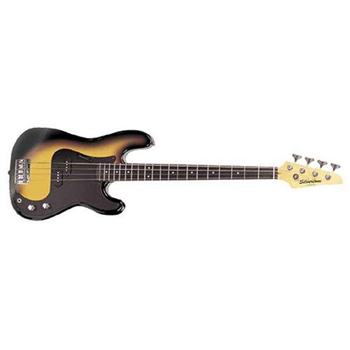 Silvertone Sslb11 Revolver 4 String Bass, Sunburst