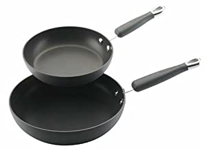 KitchenAid Gourmet Essentials Hard Anodized 8 and 10-Inch Skillet 2 pack
