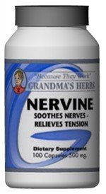 Nervine - Herbal Remedy To Soothe Nerves & Tension - 100 Capsules
