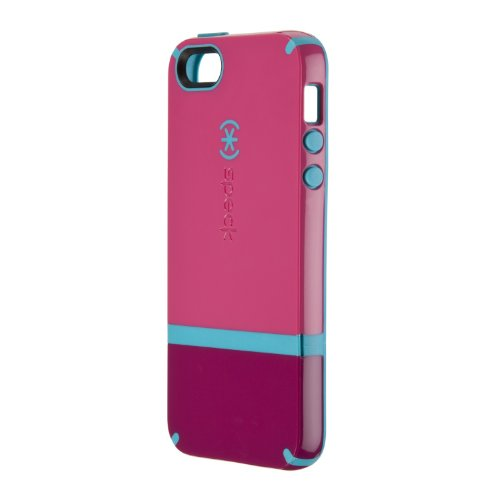 Best Price Speck Products CandyShell Flip Dockable Case for iPhone 5 & 5S - Retail Packaging - Raspberry Pink/Dark Raspberry/Peacock Blue