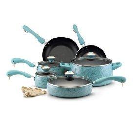 Paula Deen Signature Nonstick 15-Piece Porcelain Cookware Set (Cookware Pots Set compare prices)