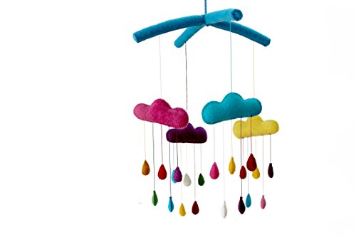 Silk Road Bazaar Mobile, Rainbow Drops/Multicolored, 0-3 Years