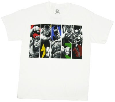 Superhero Group Panels Justice League T-shirt