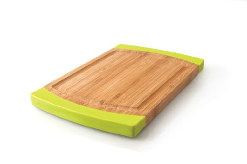 Berghoff Large Rounded Bamboo And Silicone Chopping Board