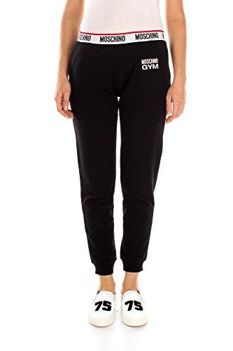 pantaloni-moschino-donna-cotone-nero-rosso-e-bianco-42079016555-nero-46