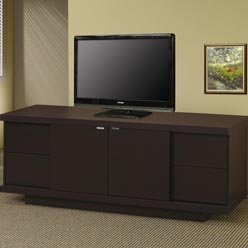Image of TV Stands Contemporary Media Console with Drawers and Shelves by Coaster (B0051PBTP4)
