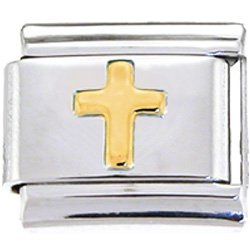 Gold Cross Italian Charm