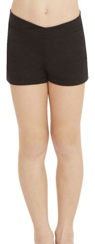 Capezio Little Girls' Boy Short,Black,S (4-6) Black Cheer Shorts