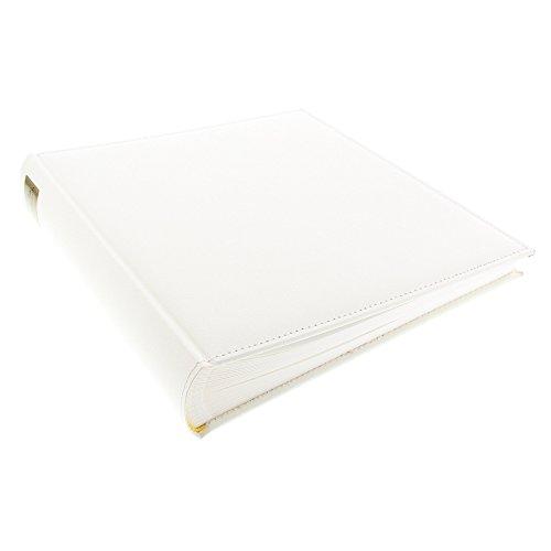 Fotoalbum Cezanne 30x31 cm 100 weiße Seiten mit Pergamin Kunstleder Sand 31808