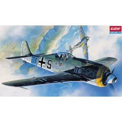 #2120 Academy/Minicraft Focke-Wulf FW-190A6/8 WWII German Fighter 1/72 Scale Plastic Model Kit,Needs Assembly