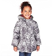 Hooded Faux Fur Trim Thermal Padded Coat with Stormwear™