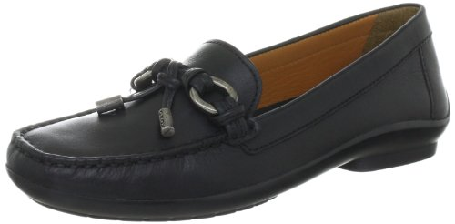 Geox Women's D Roma A Leather Black Moccasins D24Q6A43C9999 5 UK, 38 EU