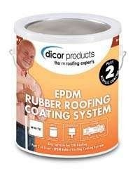 DICOR CORPORATION RP-CRC RUBBER ROOF ACRYLIC COATING WHT GALLON RP-CRC-1