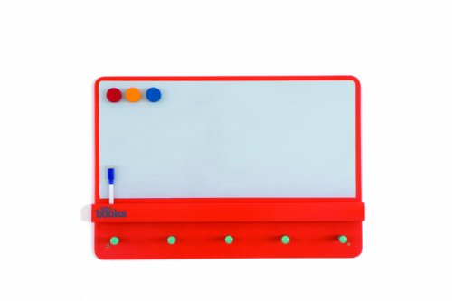 Tidy Books The Original Wooden Kids Magnetic Notice board with Coat Rack and Shelf